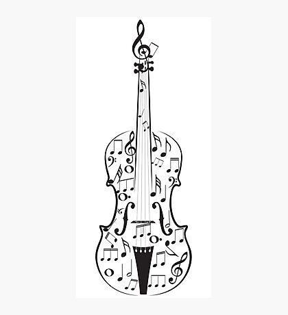 Violine mit Noten Fotodruck