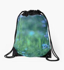 Blue Spring Flowers Drawstring Bag