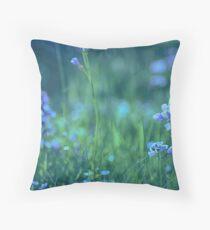 Blue Spring Flowers Floor Pillow