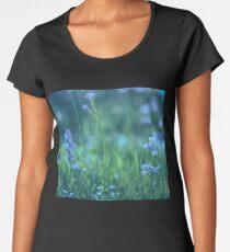 Blue Spring Flowers Women's Premium T-Shirt