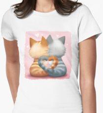 Les amoureux T-shirt moulant femme