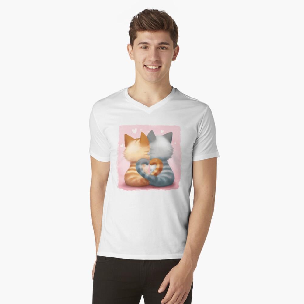 T-shirt col V «Les amoureux»