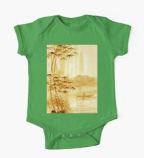 LAKE - landscape art One Piece - Short Sleeve