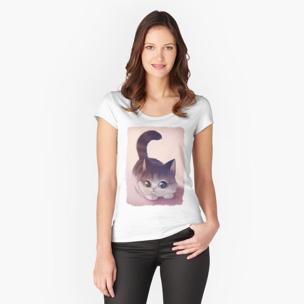 T-shirt moulant échancré «Delight»