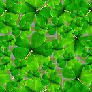 Falling Shamrock Pattern with Celtic Background by LaRoach