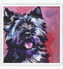 Cairn Terrier Dog Bright colorful pop dog art Sticker