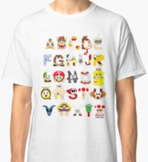 Super Mario Alphabet Classic T-Shirt