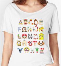 Super Mario Alphabet Women's Relaxed Fit T-Shirt