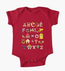 Super Mario Alphabet One Piece - Short Sleeve