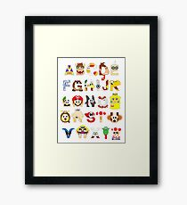 Super Mario Alphabet Framed Print