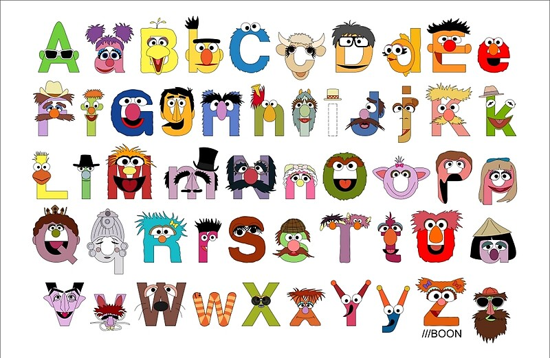 "Sesame Street Alphabet"" Studio Pouches by Mike Boon 
