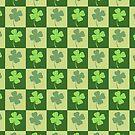 Shamrock Checkerboard Pattern by LaRoach