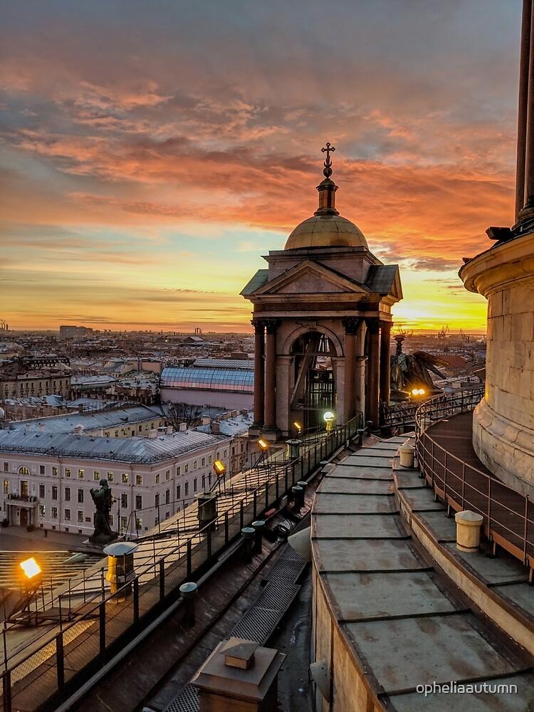 Magical sunset on Saint Petersburg by opheliaautumn