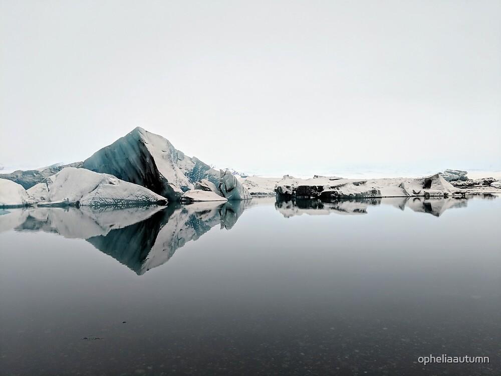 Frozen Symmetry, Glacier Lagoon by opheliaautumn