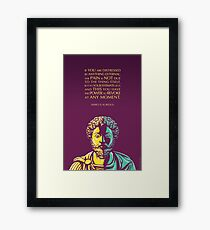 Marcus Aurelius quote: The Power to Revoke Framed Print