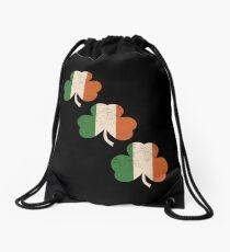 Three Shamrocks - Distressed, Vintage Style Drawstring Bag