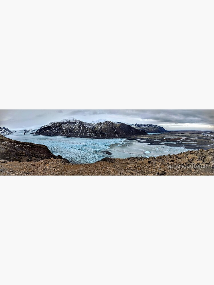 A glacier's tongue in Iceland by opheliaautumn