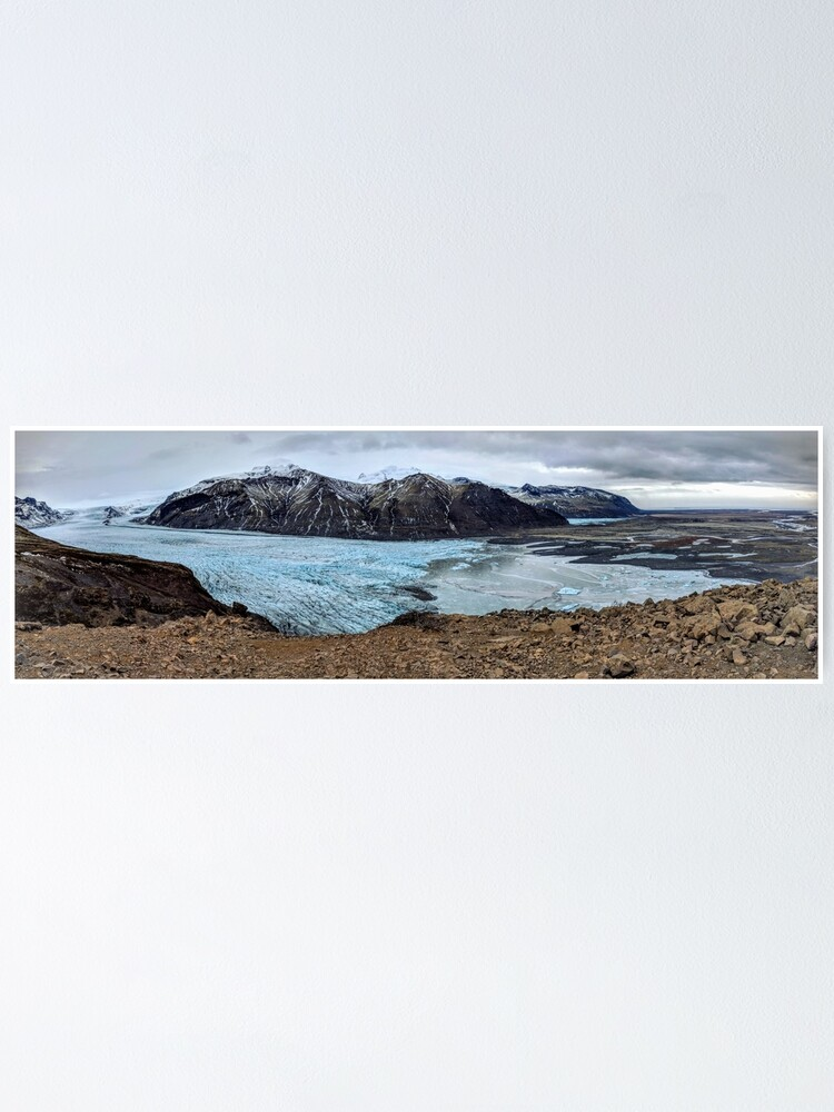 Alternate view of A glacier's tongue in Iceland Poster