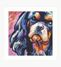 Cavalier King Charles Spaniel Hund Bright bunten Pop-Hund Kunst Kunstdruck