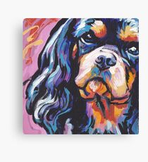 cavalier king charles spaniel Dog Bright colorful pop dog art Canvas Print