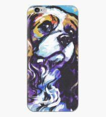 Vinilo o funda para iPhone cavalier king charles spaniel perro colorido brillante perro pop art