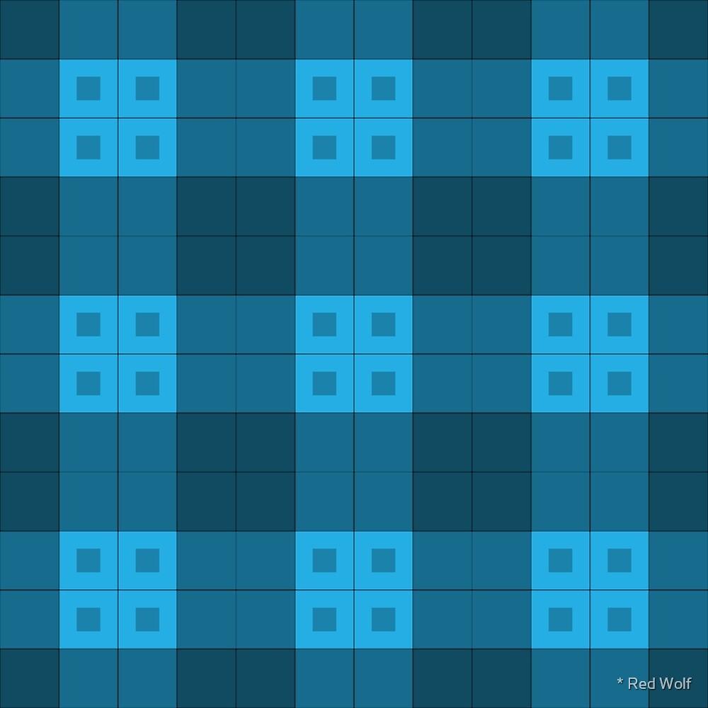 Geometric Pattern: Button Weave: Dark/Blue by * Red Wolf