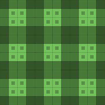 Geometric Pattern: Button Weave: Dark/Green by redwolfoz
