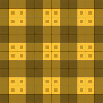 Geometric Pattern: Button Weave: Dark/Yellow by redwolfoz