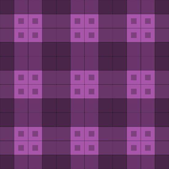 Geometric Pattern: Button Weave: Dark/Purple by * Red Wolf