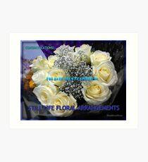 Stillleben-Blumenarrangements kennzeichnen Fahne Kunstdruck