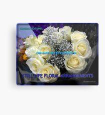 Stillleben-Blumenarrangements kennzeichnen Fahne Metallbild