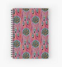Aqua Feather Dreamcatcher Spiral Notebook