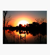 Circular Sunset Photographic Print