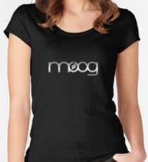 Moog  Synth Silver Women's Fitted Scoop T-Shirt