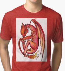 Dragon orange red yellow - I'm a dragon Tri-blend T-Shirt