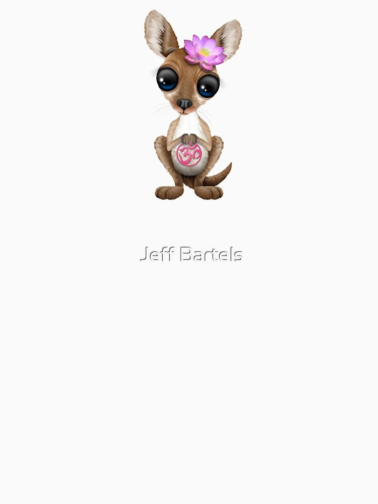 Zen-Baby-Känguru mit rosa Yoga Om-Symbol von JeffBartels