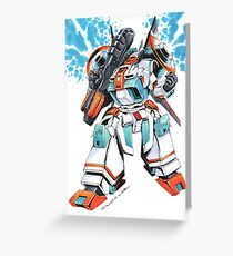 Metal Storm M-308 Gunner Mecha Greeting Card