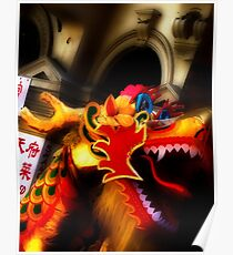 Chinese Lion Poster