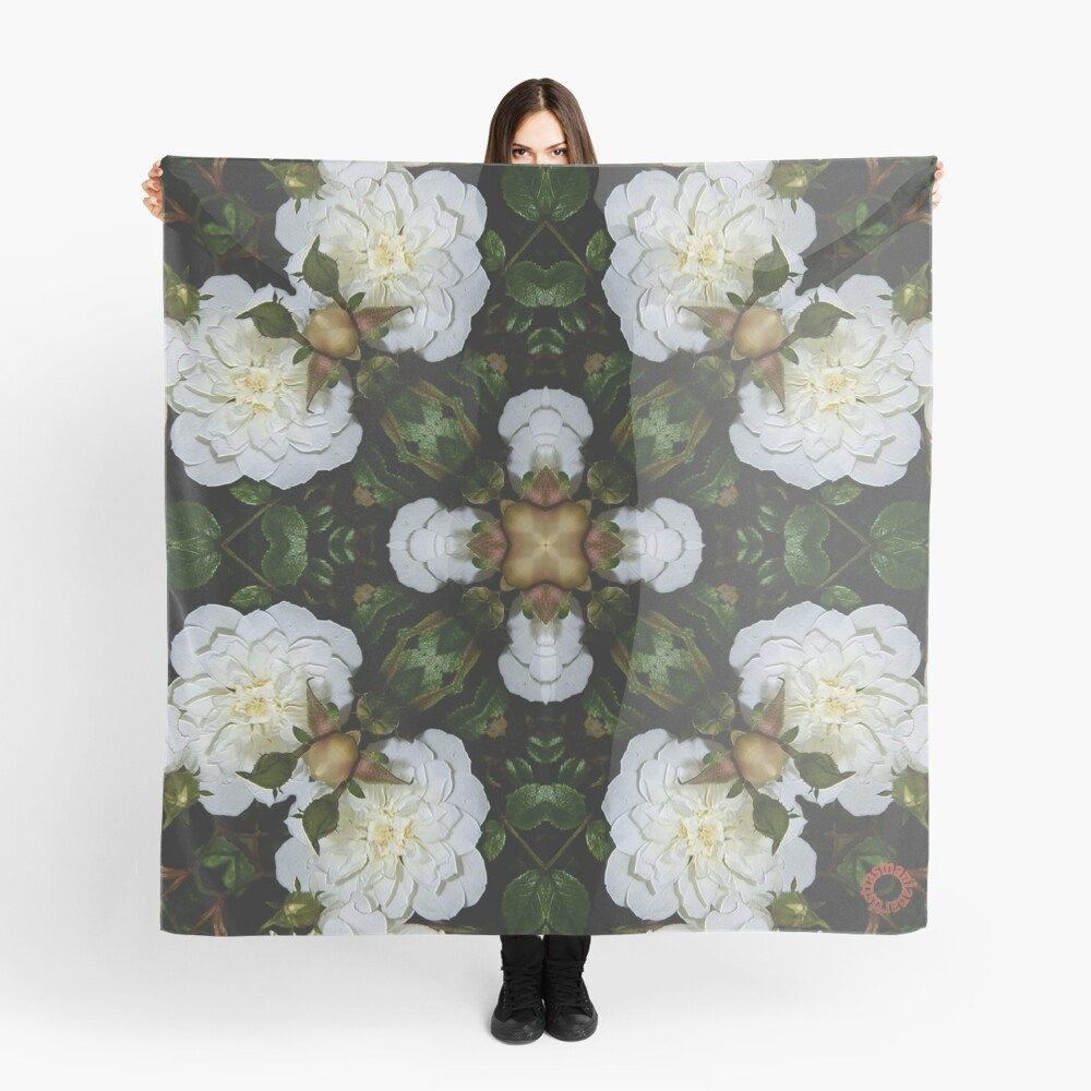 D1G1TAL-M00DZ ~ FLORAL ~ Flower of Light 2 by tasmanianartist 010219 Scarf