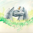 Weedle and Metagross on Guard Duty by sugandya