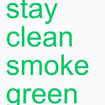stay clean smoke green by adamUSD