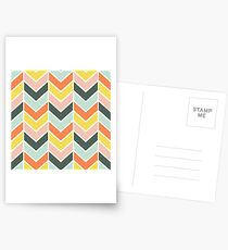 Cheerful Chevron Postcards