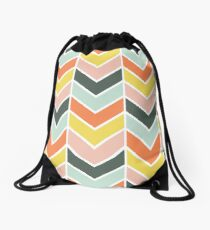 Cheerful Chevron Drawstring Bag