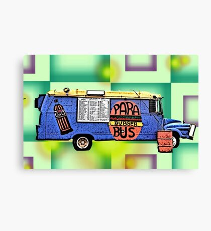 Para Bus on the side. Canvas Print