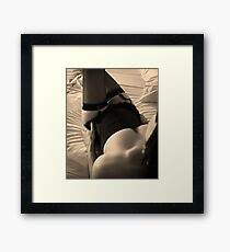 it's hard work..... Framed Print