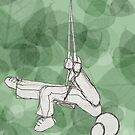 Swing Girl Swing : Green by Lisadee Lisa Defazio