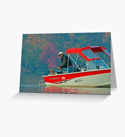 Two Friends Fishing Greeting Card