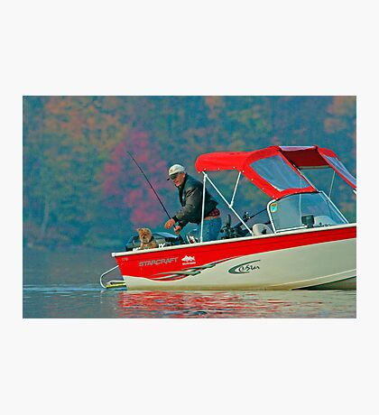 Two Friends Fishing Photographic Print