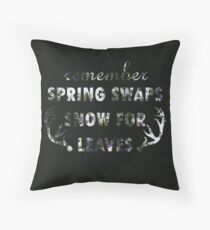 Mumford & Sons Winter Winds Floral Design Throw Pillow