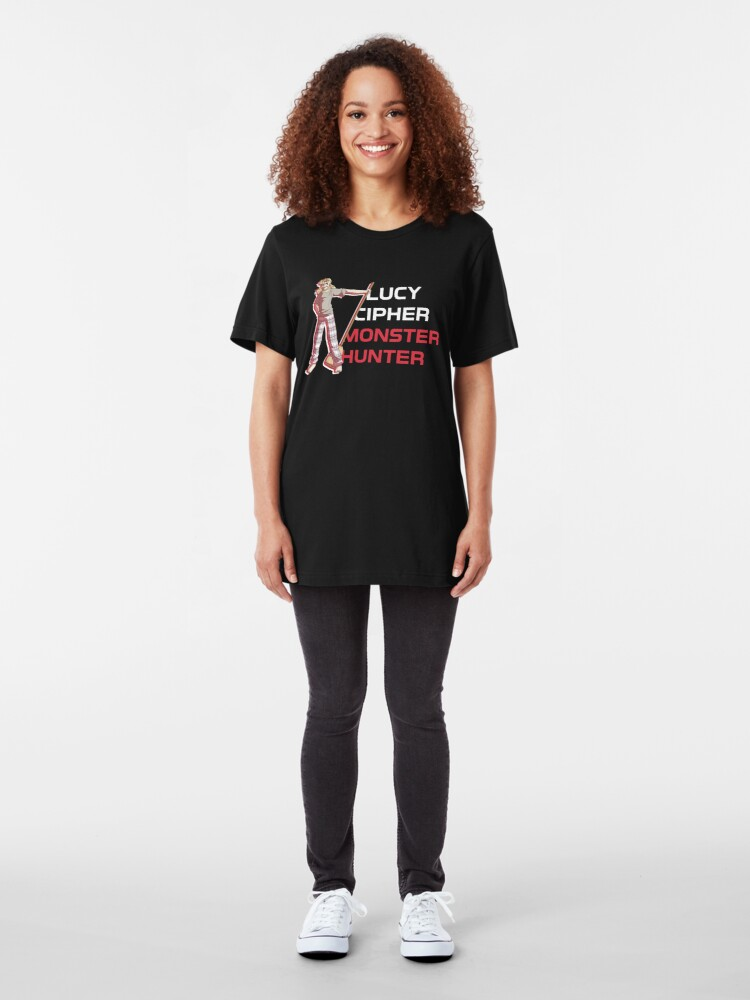 Alternate view of Lucy Cipher: Monster Hunter Slim Fit T-Shirt